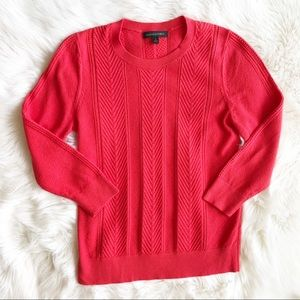Banana Republic Cable Crew Sweater j726